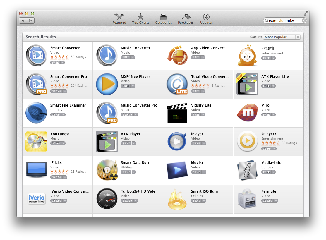 File extensions on the Mac App Store